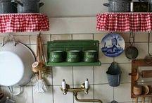 keuken en nostalgische spullen