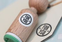 Mini Rubber Stamps / Mini stamps for craft scrapbooking.