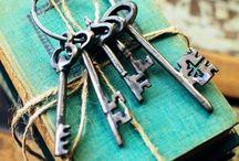 Keys to Unlock Mysteries / Vintage keys for vintage doors.