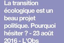 Transition écologique / Ecological transition.