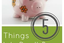 Living Frugally - Saving Money