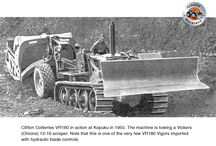 The Vickers 'Vigor' VR-180 tractor / As a result of their experience manufacturing tanks during WWII, Vickers-Armstrong of Newcastle, England decided to build a track-type tractor to take on the Americans.   A successful product would be a boost to Britain's war ravaged economy and also stem the flow of imported tractors which used up valuable overseas funds.