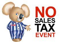 No Sales Tax Event
