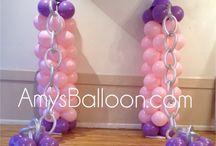 Princess Castle Balloon Party / Castle Balloon Columns, Princess Balloon Centerpieces, Balloon Decorations