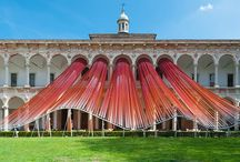 "MAD Architects / MAD Architects - Invisible Borders, Cortile d'Onore courtyard of the Università degli Studi di Milano, for the 2016 Milan Design Week, as part of the ""Open Borders"" exhibition by the Italian magazine Interni."