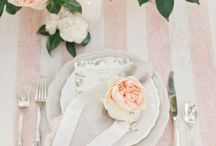 Table Setting Inspiration / Beautiful inspiration for your wedding tables.  Please note, these have not been created by Weddings by Emily Charlotte.
