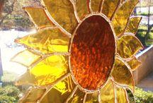 çiçek vitray