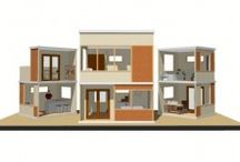 MODERN DOLLHOUSE PLANS / by Lisa Delgadillo-Munford