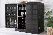 storage + bar cabinet