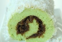 Roll cake pandan kelapa