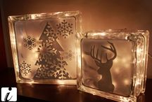 Holiday Stenciled Crafts / Stenciled Holiday crafts ideas & photos