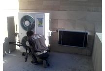 solar air condition installations / Both of electricity and the energy absorbed in the day time stored in the heat absorbing device can ensure the air conditioner to work normally. More over, the energy absorbed in the environment can be consumed and renewed continuously. Solar-Icon In comparing with the normal airconditioners,ours can save 65-80% of the power.