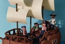pirate ship sugarpaste cake