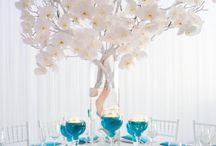 mariage turquoise et blanc