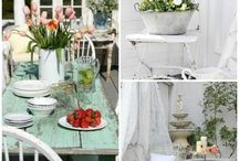 Shabby chic style patios and terraces