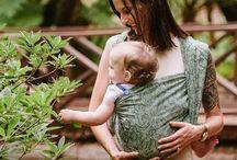 Fidella baby wrap -Wild Rose mossy green- Inspirations