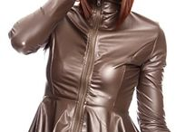 Leather & Faux Leather Coats, Jackets & Vests