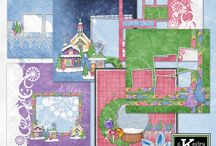 Winter Wonderland Digital Scrapbooking by Kathryn Estry / This adorable winter collection is a remake of my best pieces from Snow Sweet Village, Blitzen and Glitzen, and Candy Claus, and includes brand new papers and elements as well!   The extra kit, 12 Days, is free with the purchase of the bundle.