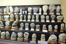Rocks That Look Like Faces in a Museum of Japan