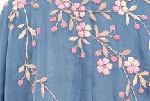 Denim dress embroidery