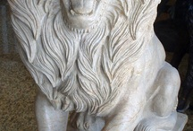 Statues / Hand carved natural stone statues by Carved Stone Creations