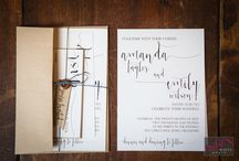 Wedding Invitations, Programs, and Save the Dates / All the different types of print pieces for weddings including: invitations, programs, and save the dates.
