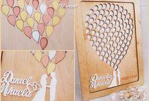 Guest - Book, wood, hand painted / Cartea Invitatilor pentru nunti