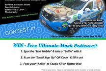 """Hair Mobile Contests-Events / The Loft Salon Studio """"Hair Mobile"""" when spotted and photographed can win you prizes."""
