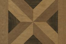 Mirth Studio - Heritage Parquet Collection / We are so pleased to collaborate with Artist and graphic designer Mark Kusek on this beautiful Wood Parquet Collection! The designs are all based on traditional parquet patterns but we have updated them with today's muted wood tones. As they are printed and not real inlaid pieces of wood , we are also thrilled to offer the same look and beauty of the real thing at the fraction of the cost.