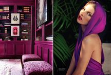 Color Stories | Radiant Orchid / Trend Spotting Radiant Orchid in Design, Home Decor, Art, Accessories, Style and Fashion. Featured: Pantone Color of the Year 2014 Radiant Orchid Color Palettes