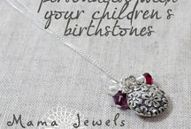 Mama Jewels inspirational jewellery / Fine silver and gold jewellery inspired by life's little adventures in Motherhood...