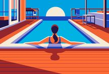 swimming pool illustrations