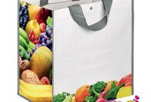 Borse shopper personalizzate in Polipropilene /  stampate e personalizzate con Vs Logo-scritta riutilizzabili. borse con stampa logo, borse shopper promozionali, borse spesa, shopper con personalizzazione