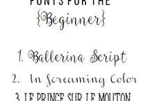 Hand lettering / Schoonschrift schrijven