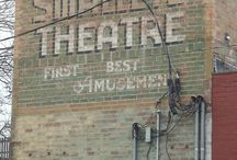 Theatres / Stage doors, historic pictures, marquees, interiors...