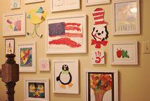 Kids' Art Displays / Gallery ideas for junior masterpieces