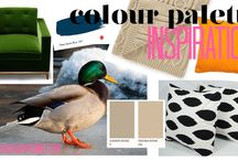 COLOUR PALETTE: MALLARD / Some unlikely inspiration for a bold colour scheme influenced by our quacky friend the Mallard! #colourpalette #colourscheme #decorating #green #orange