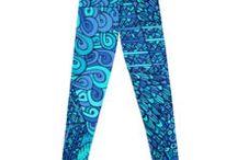leggings fashion / yoga pants, yoga leggings, hippie leggings, boho leggings,  bright colorful abstract pattern leggings