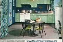 1950's modern ranch kitchen