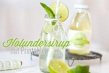 Getränke und Sirups