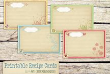 Recipe Cards*Dividers*Book Ideas / by Trisha Todd