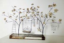 Sculpture papier et fil de fer