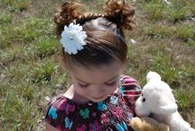 Different hair styles for little girls / by Kim DeGraw