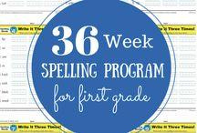 First Grade Homeschool / First Grade Homeschool, Lapbooks, Spelling, Language Arts, Reading, Math