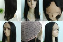 Silicone wig, thin skin wig, and U-part wigs / Silicone wig, thin skin wig, and U-part wigs
