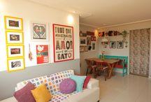 Desing de Interiores / Ideias de decoração, pinturas de paredes, moveis estilizados . . .