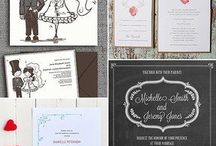 Printable Wedding Stationery / Print up your own wedding invitations and stationery with these great ideas for printable wedding stationery designs.