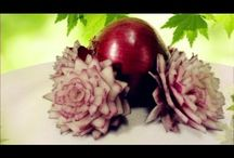 cibule a pórek / Carving a netradiční servírováni