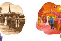 """Pylb. """"Suivez le guide"""" Marc Chagall 2016 / Une visite originale et décalée pour découvrir le monde merveilleux de Marc Chagall. Edité chez Locus Solus. 2016"""