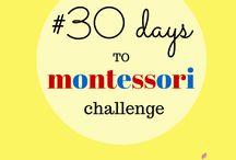 """30 giorni di Montessori - la sfida / 30 giorni da vivere ispirandosi al metodo Montessori. Incoraggiare i più piccoli a """"fare da soli"""" proponendo loro attività ludiche che sviluppino e implementino le loro capacità psico-motorie. Aggiungi anche tu la tua attività, ispira e lasciati ispirare dalle altre mamme!"""